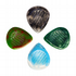 Resin Tones Grip Mixed Pack of 4 Guitar Picks